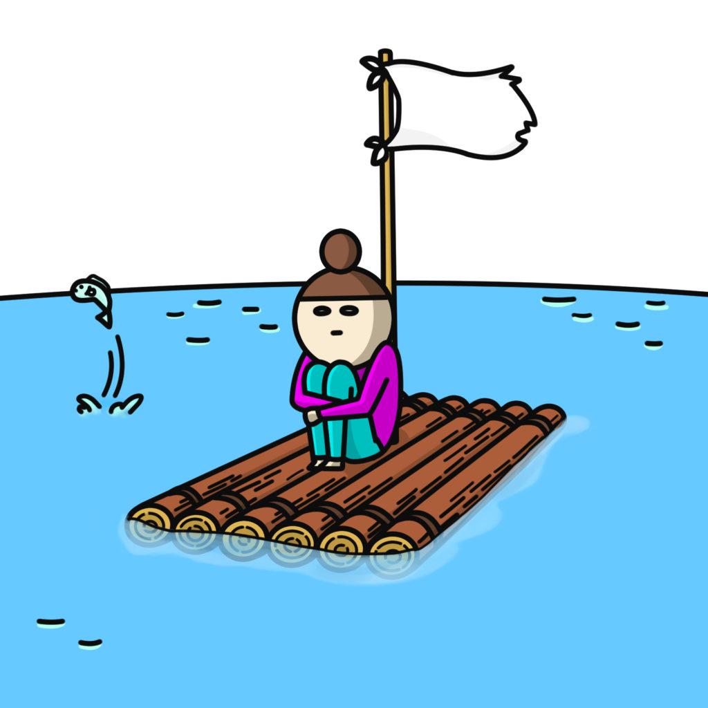 海で一人ぼっち